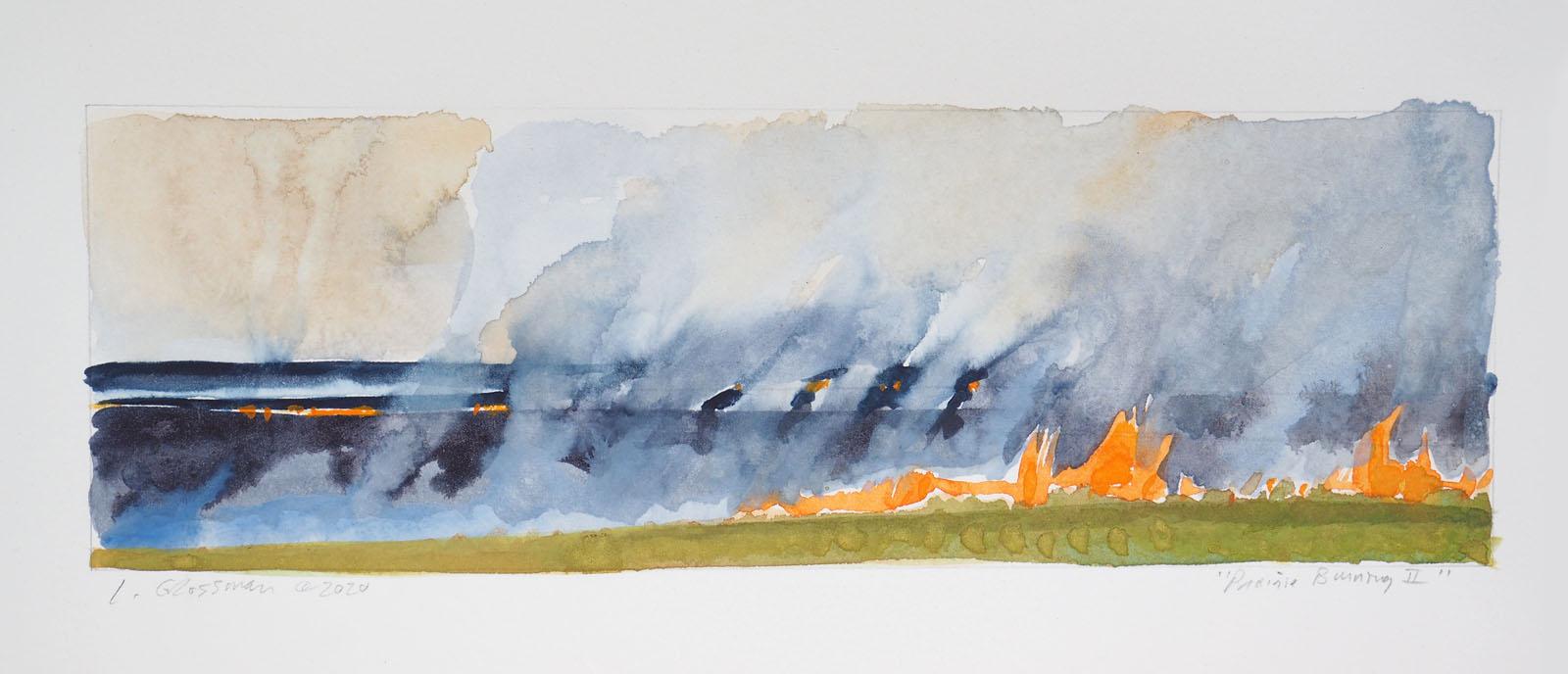 Prairie Burning II by  Lisa Grossman - Masterpiece Online