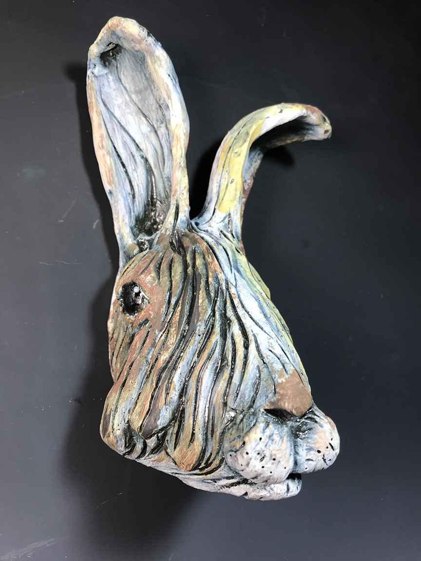 Rabbit Face (blue)