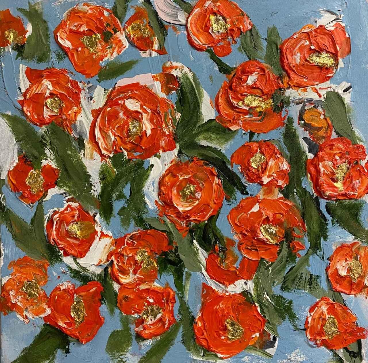 Garden of Ranunculus ... by  Steve Lyons - Masterpiece Online