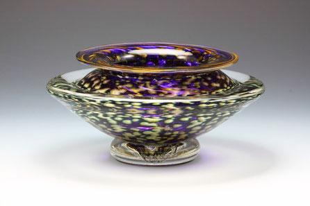 Large Ikebana Bowl in Transparent Amethyst
