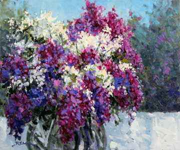 Lilacs represented by  by  Robert E. Wood