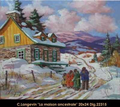 La Maison Ancestrale ... by  Claude Langevin - Masterpiece Online