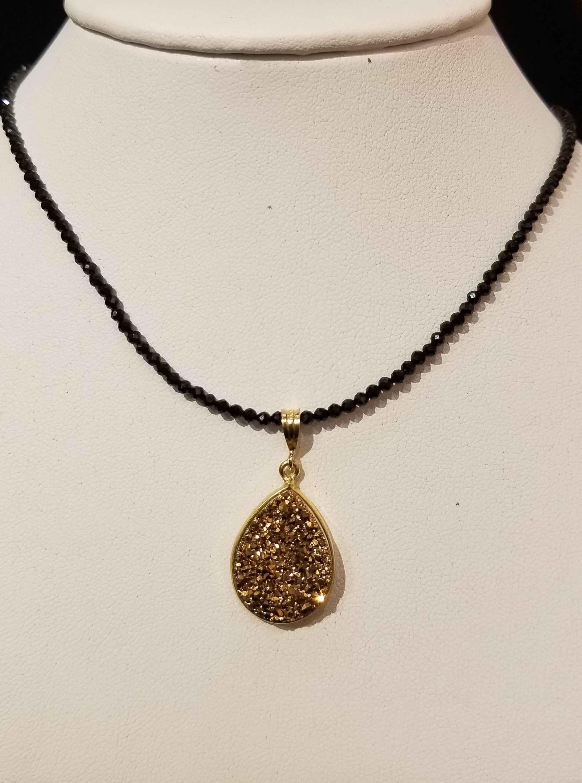 Gold Druzy Oval w/ Bl... by  Paula Nurse - Masterpiece Online