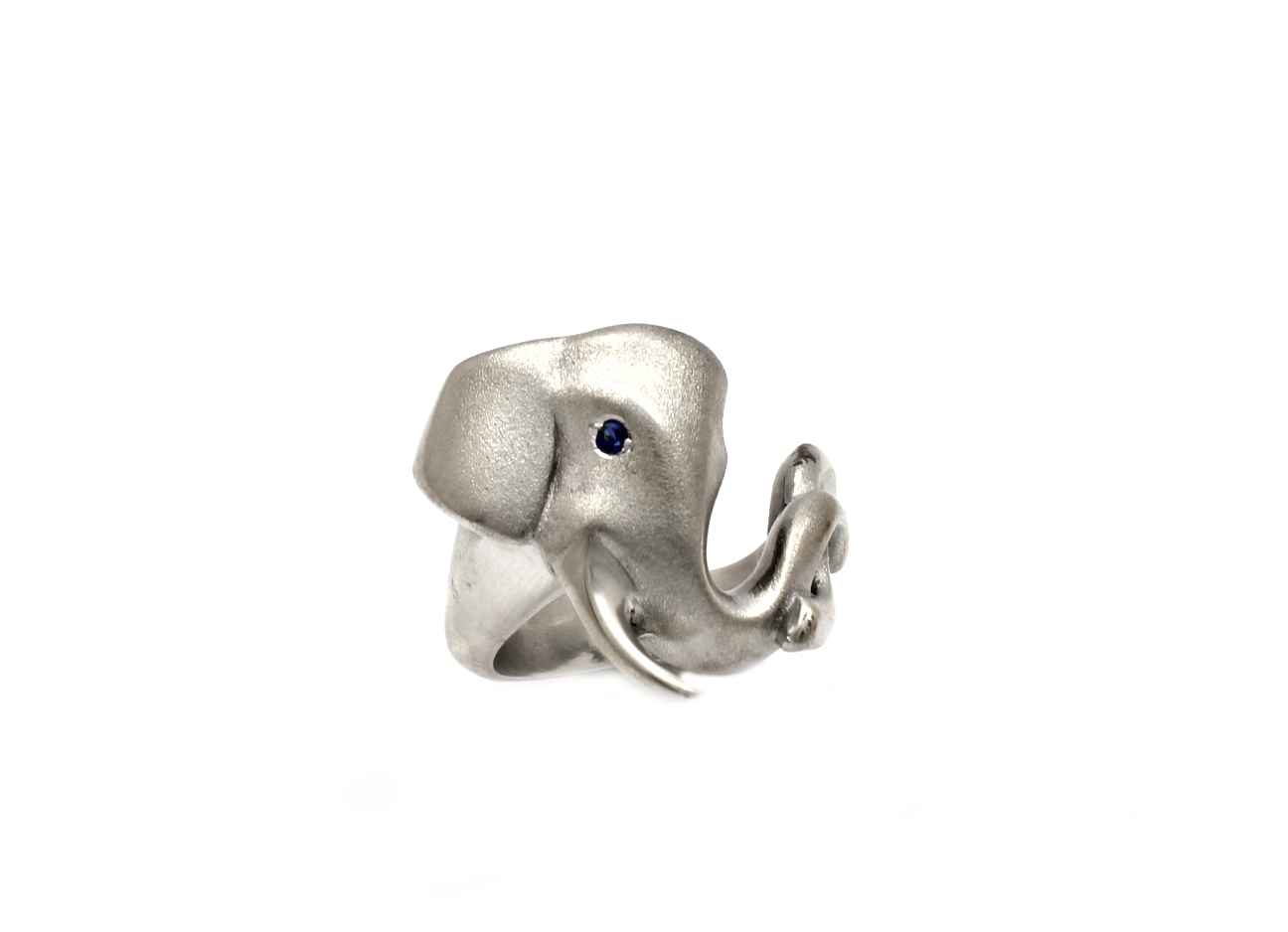 Elephant Ring With Ge... by  Michael Tatom - Masterpiece Online