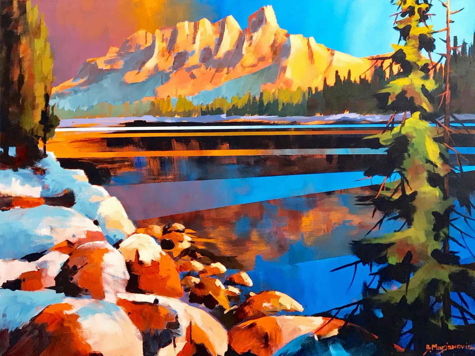 Castle Mountain Refle... by  Branko Marjanovic - Masterpiece Online