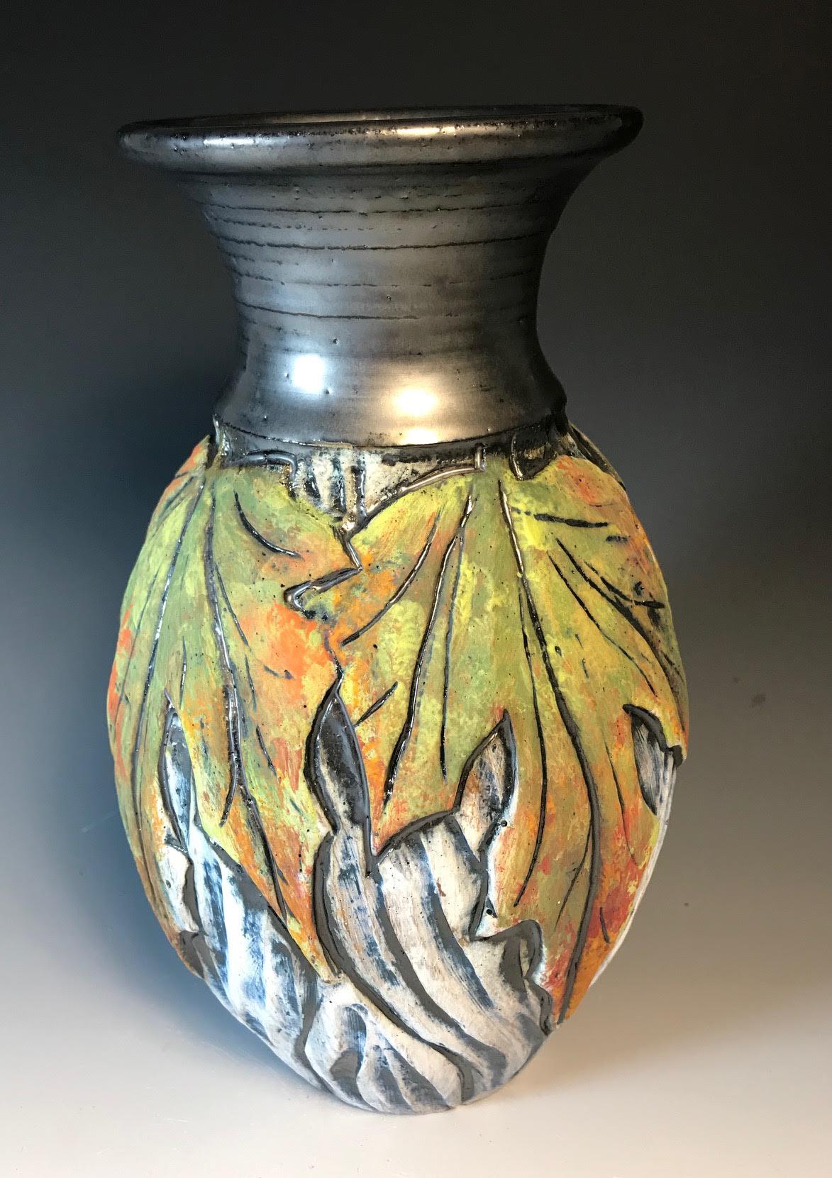 Green Maple Vase