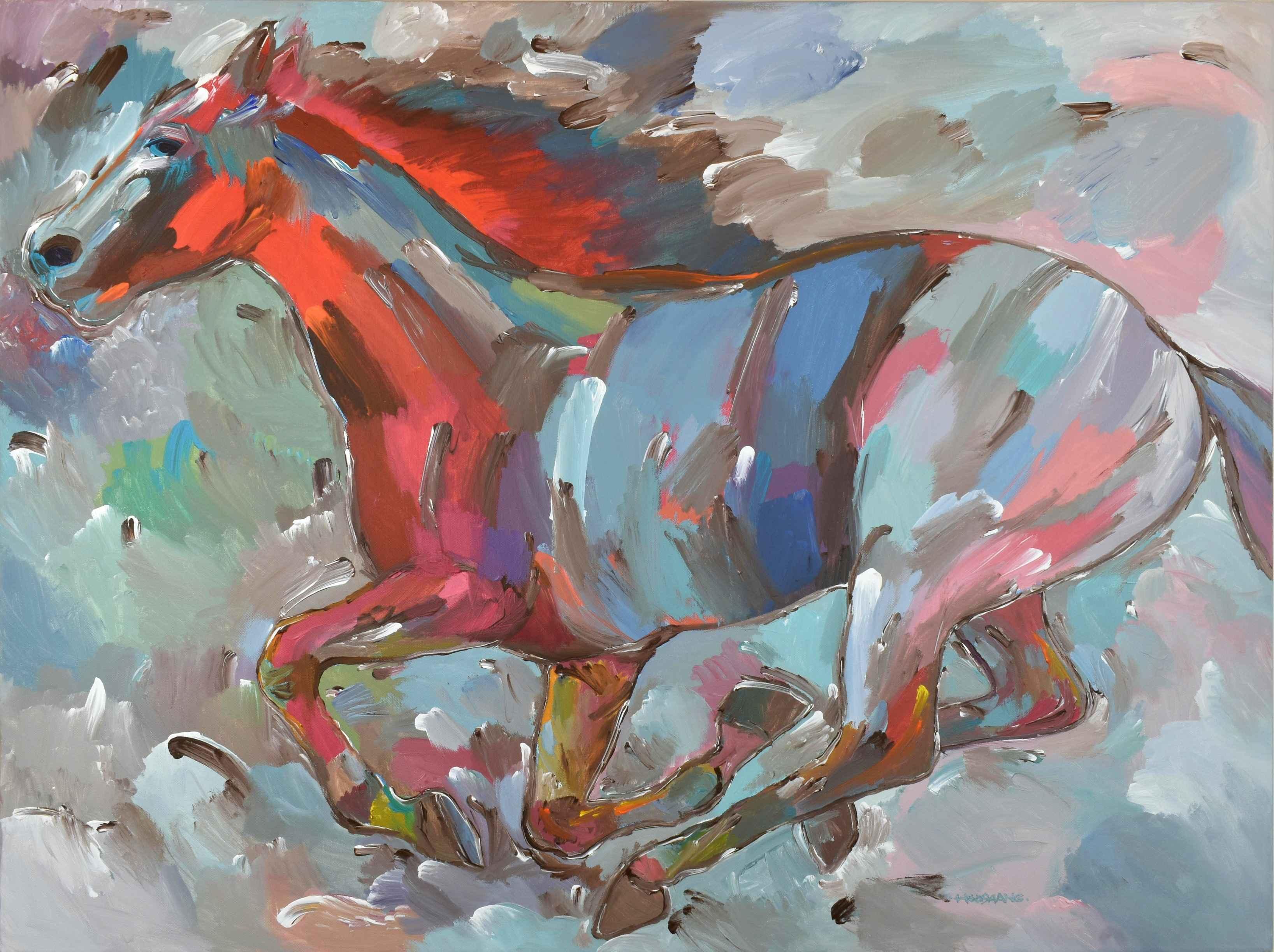 Fiery Runner by  Hooshang Khorasani - Masterpiece Online
