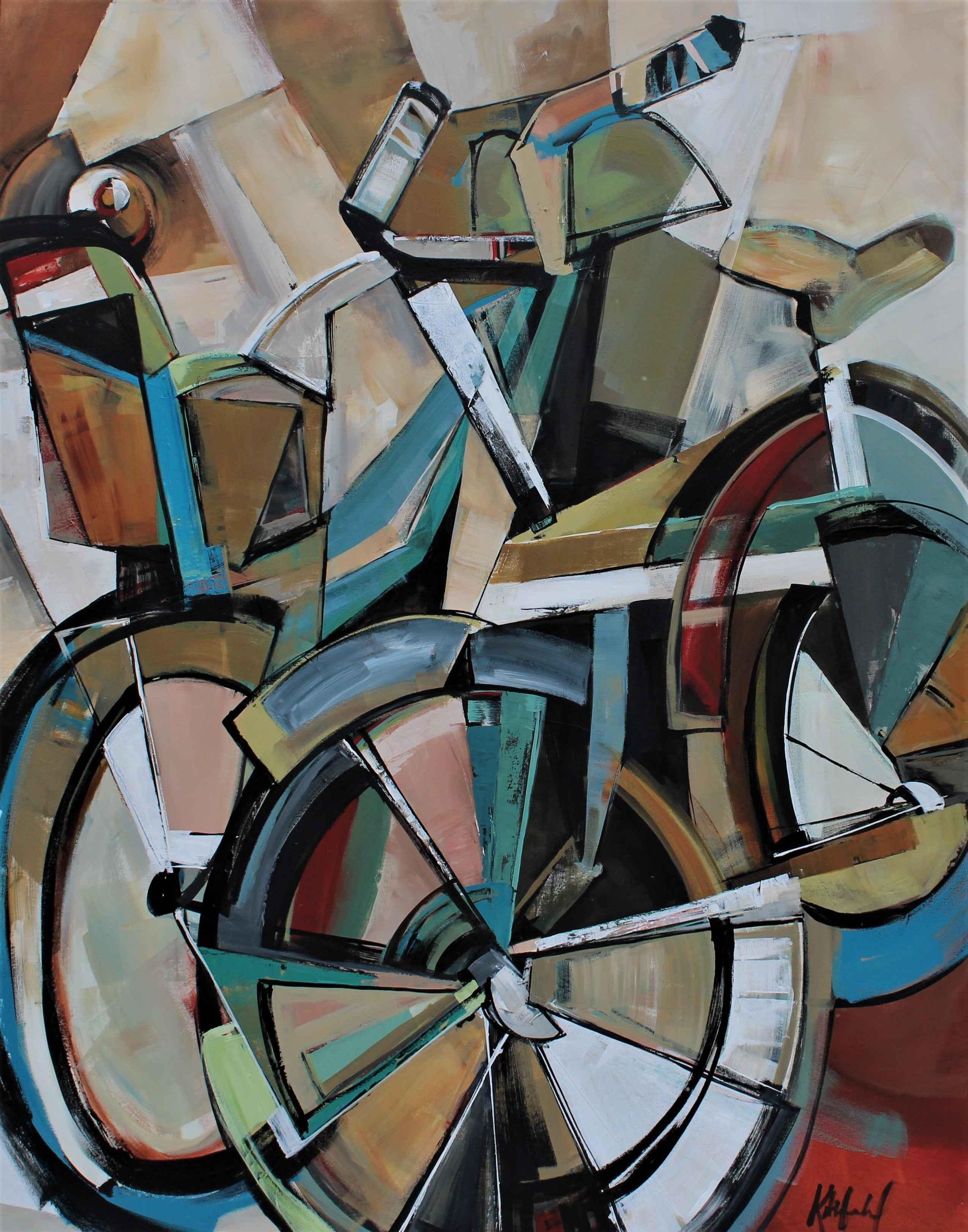 Cuddle Bikes II by  Katie Leahul - Masterpiece Online