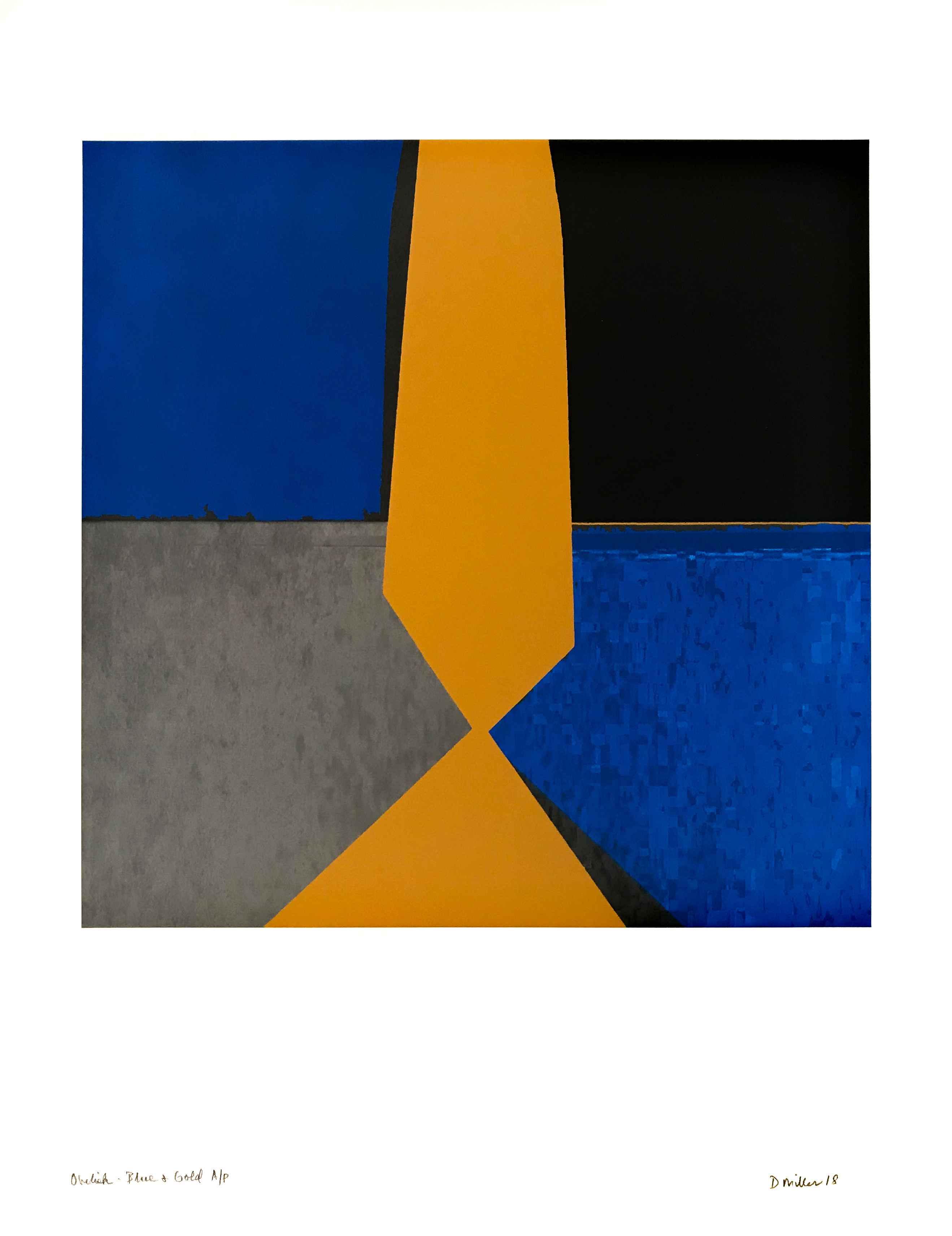 Obelisk - Blue & Gold by  David Miller - Masterpiece Online