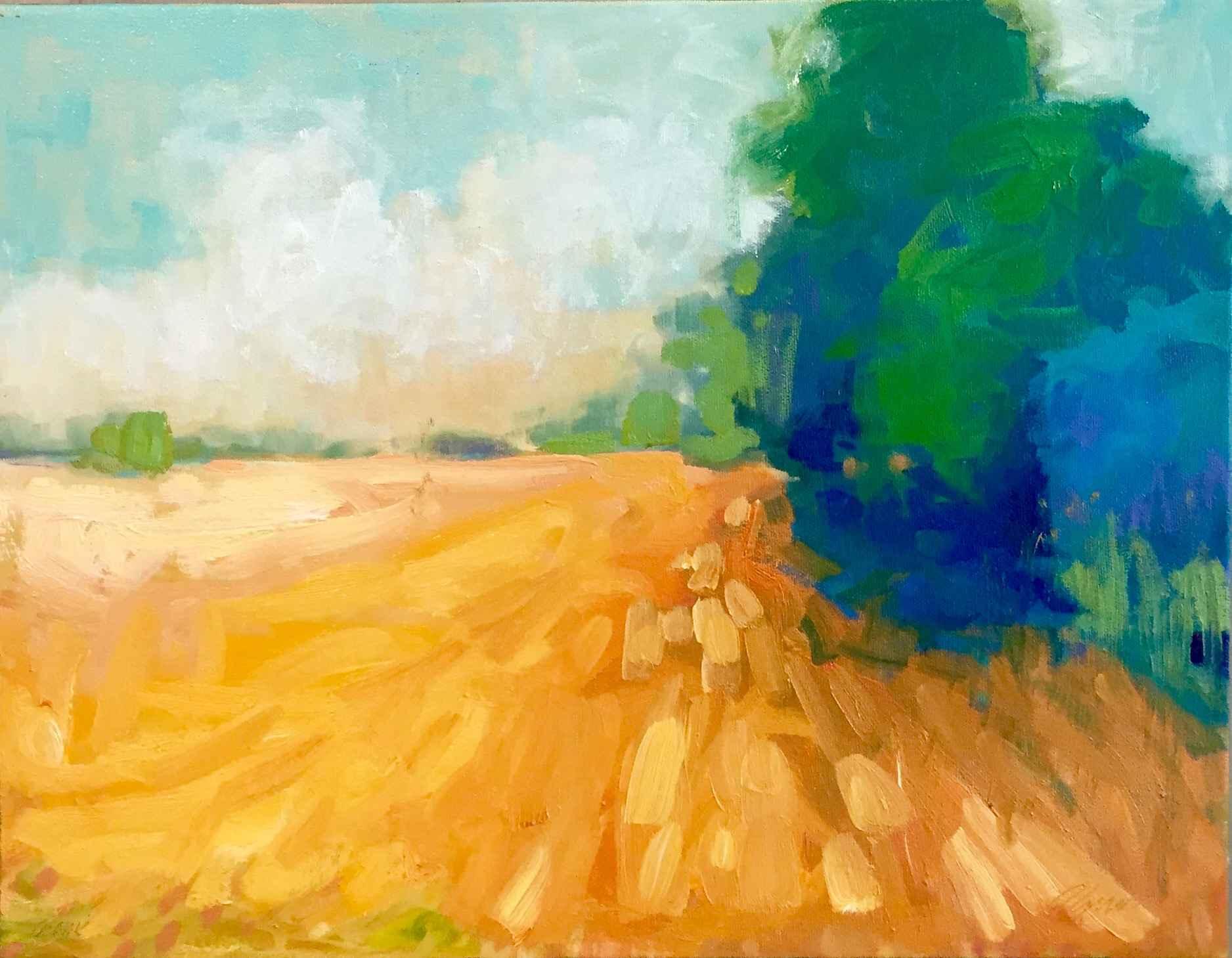 Hayfield by  Carol Finkbeiner Thomas - Masterpiece Online