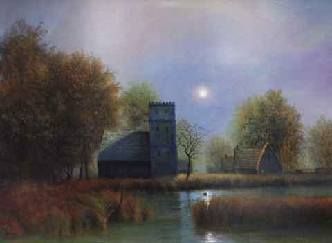 Misty Moonlight by  Roger  Budney - Masterpiece Online