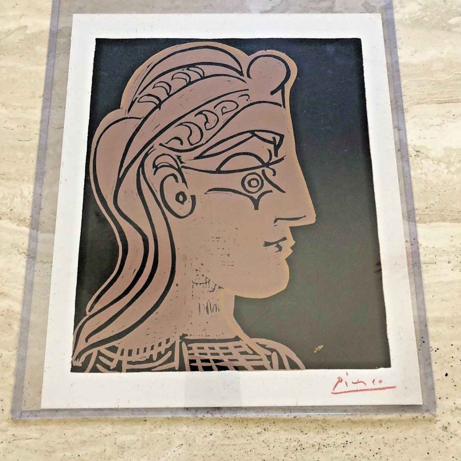 Head of a Woman in Pr... by  Pablo Picasso - Masterpiece Online
