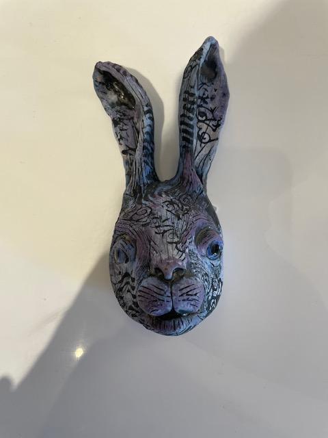 Lavender Blue Rabbit Head