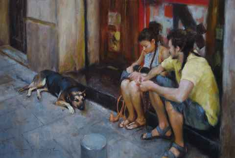 Back Street, Madrid by  Glenn Harrington - Masterpiece Online