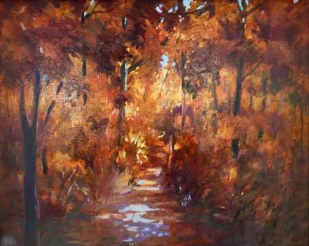 Untitled (Fall Trees) by  Mary Theisen - Helm - Masterpiece Online