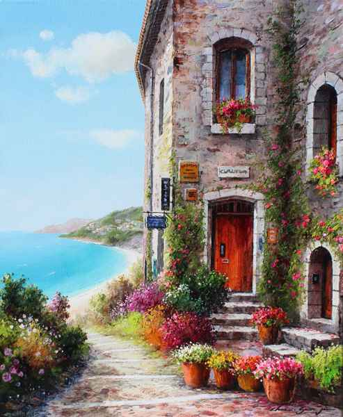 Flowers by the Door by  Soon Ju Choi  - Masterpiece Online