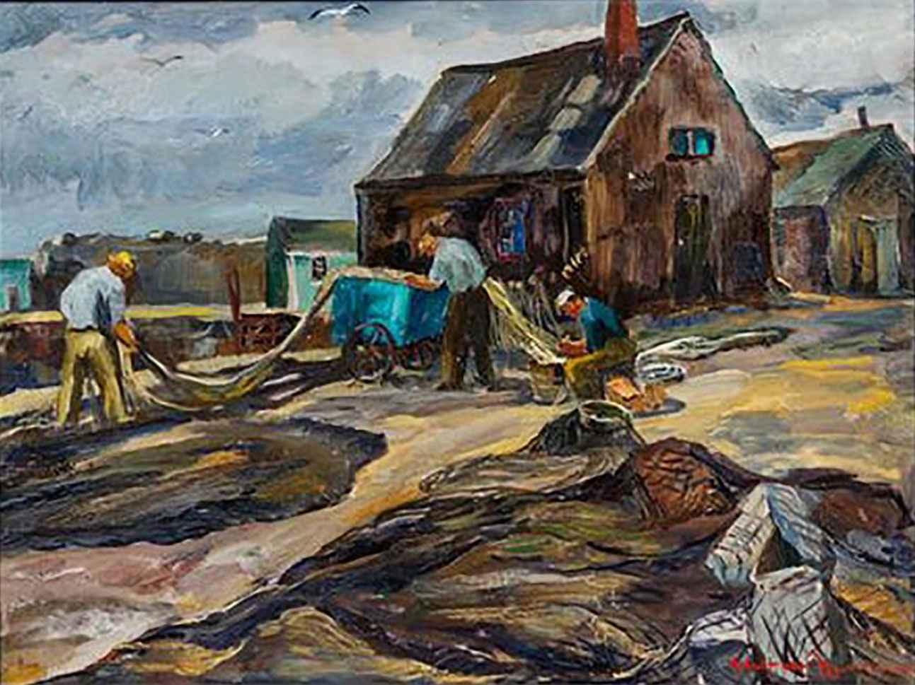 3 Fishermen Working by Mr. Robert von Neumann - Masterpiece Online