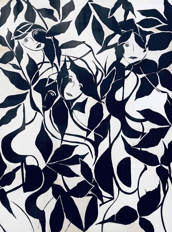Women in the Garden by  Steve Lyons - Masterpiece Online