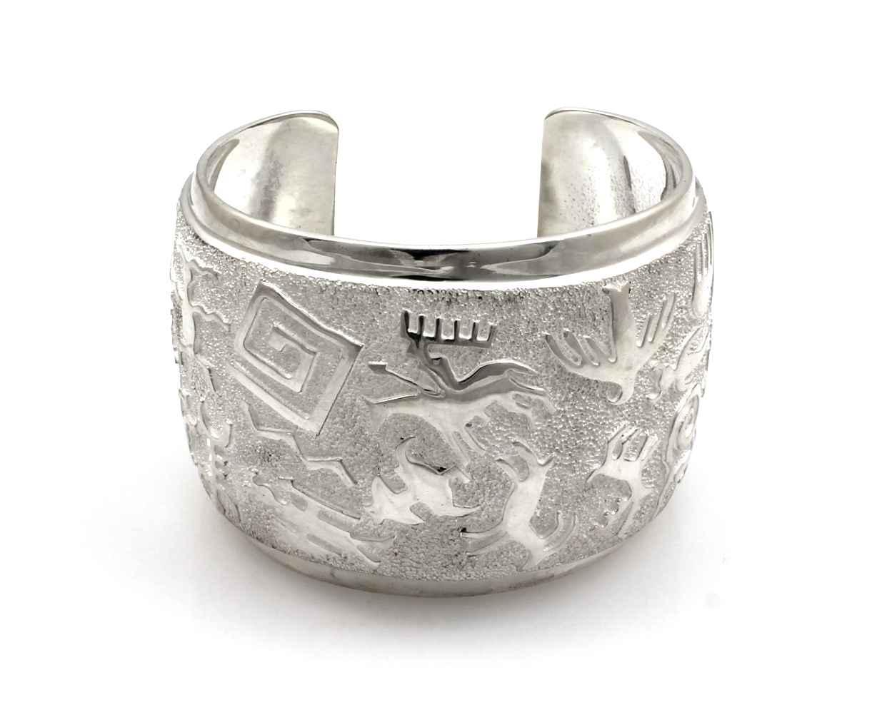 Rock Art Cuff Bracelet by  Ben Nighthorse - Masterpiece Online