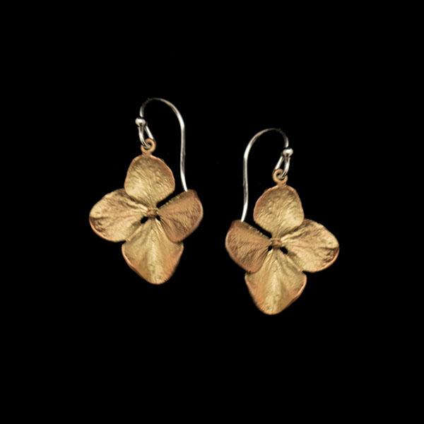 Hydrangea Petal Wire Drop Earrings