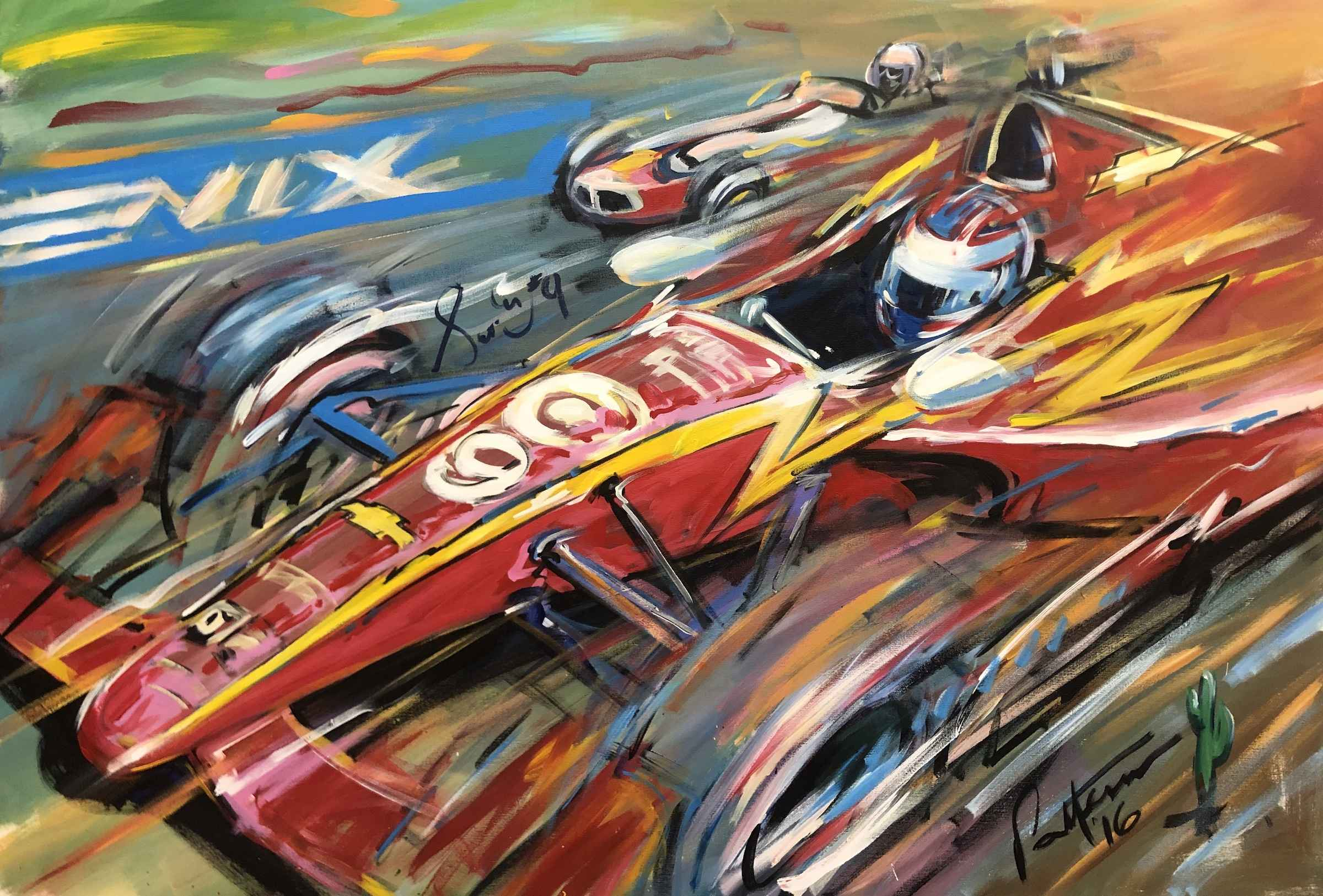 Race at Pheonix Track by  Bill Patterson - Masterpiece Online