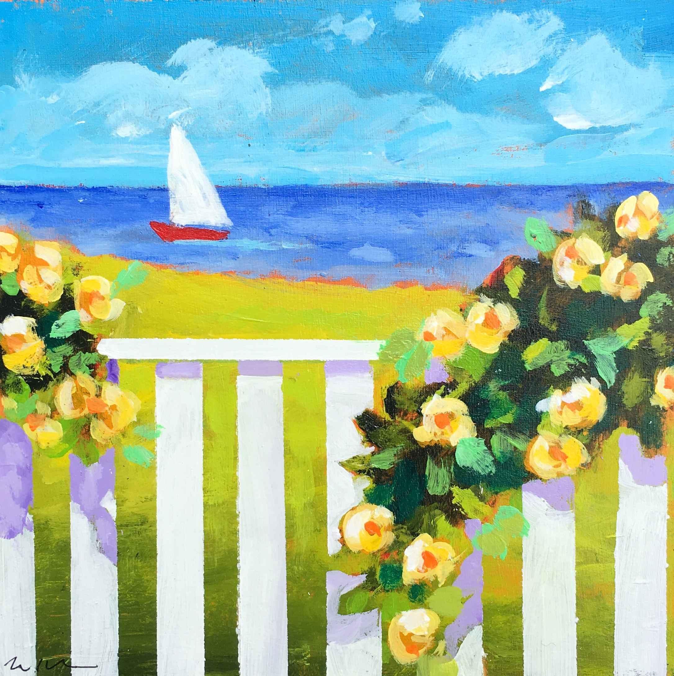 Yellow beachside rose... by  Kate Winn - Masterpiece Online