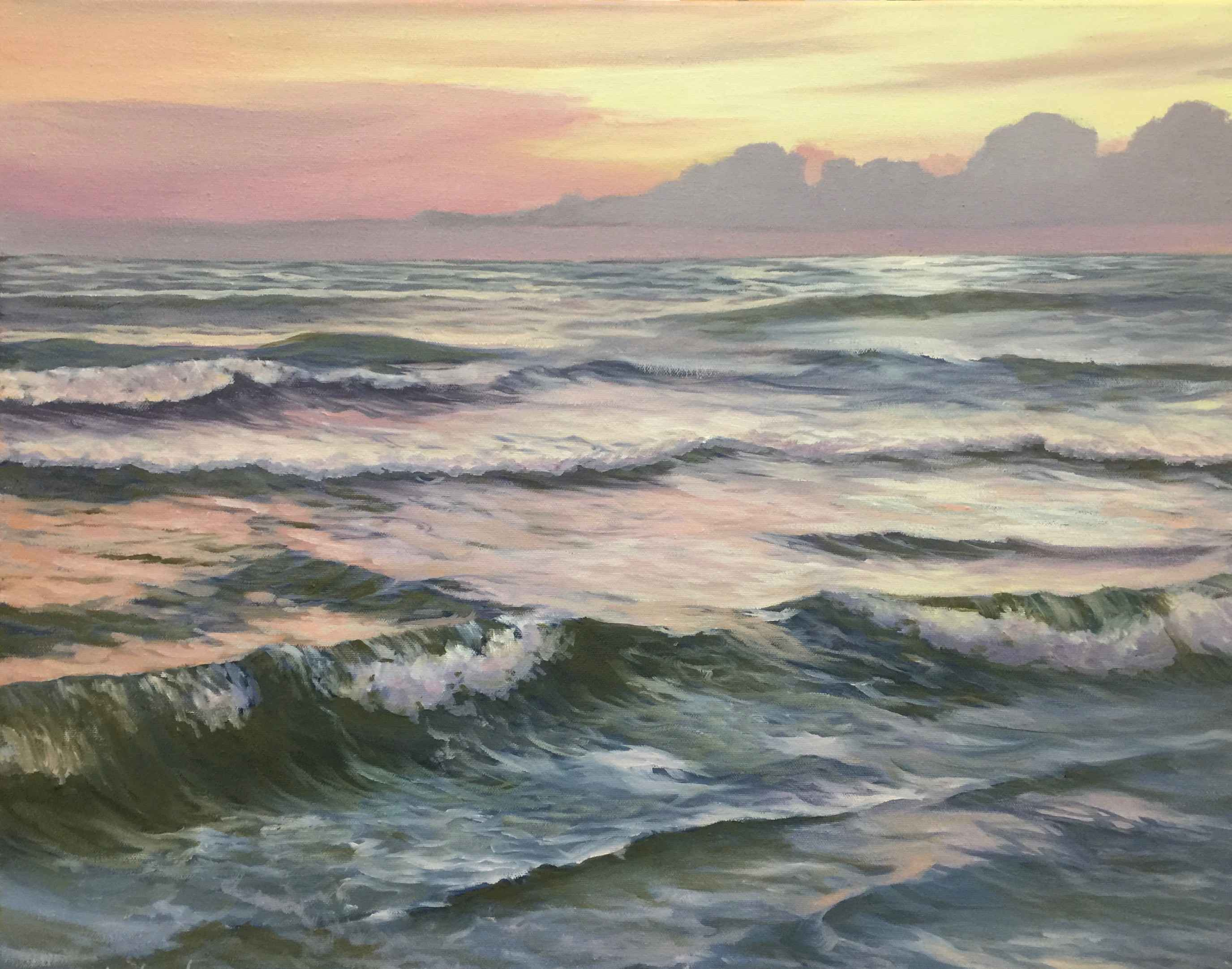 Sunlit Waves  by  Dorothy Starbuck