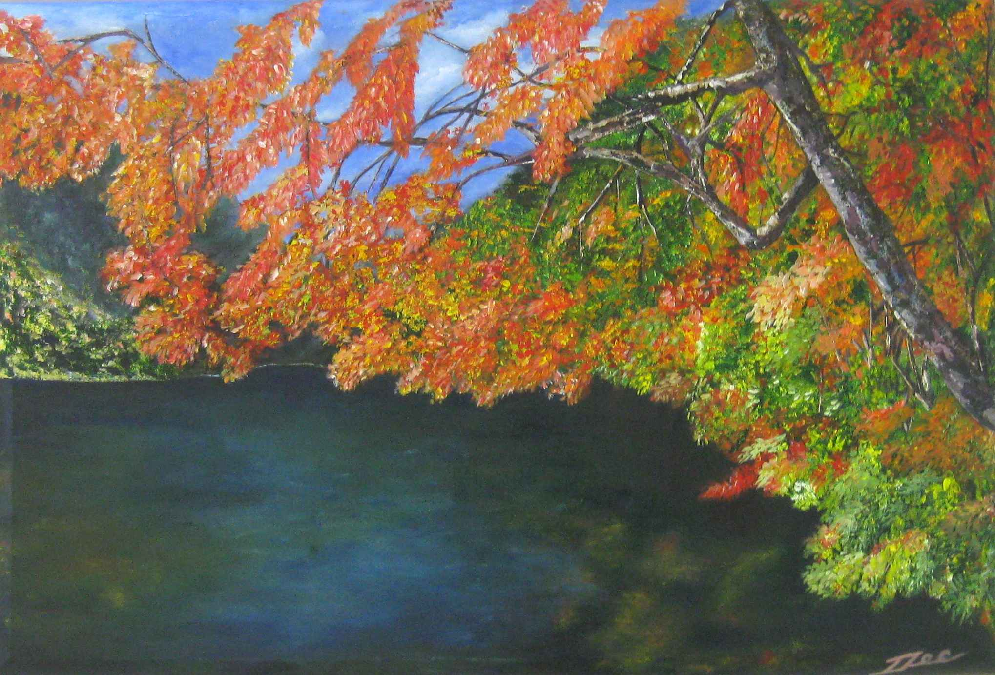 Flamboyant Lake by  Elizabeth Clarendon - Masterpiece Online