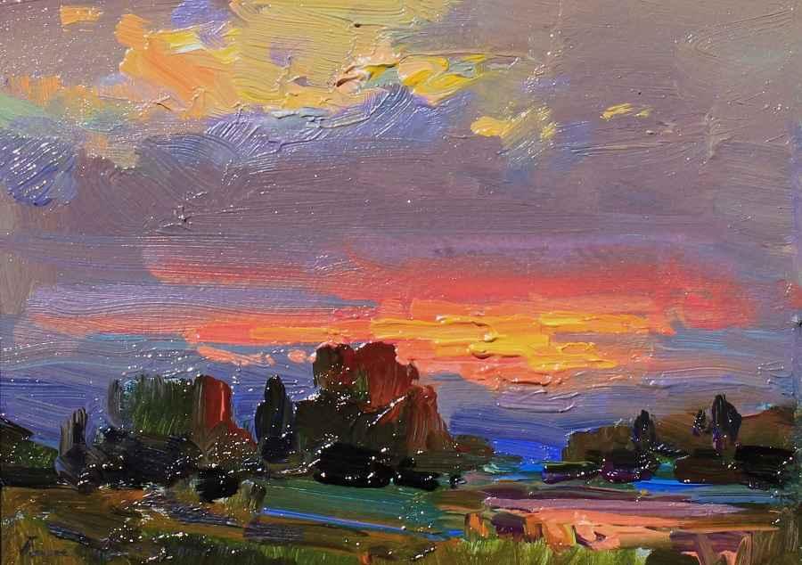 Last Light by  Ovanes Berberian - Masterpiece Online