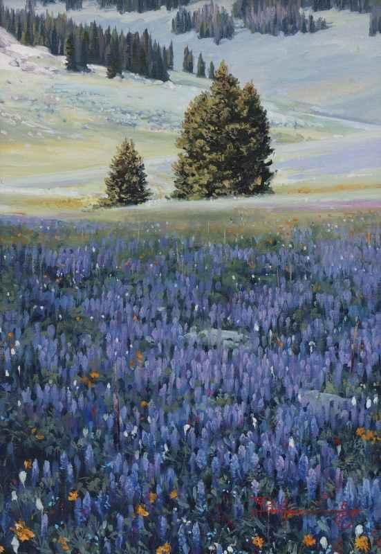 The Lupine Fields by  Ty Barhaug - Masterpiece Online