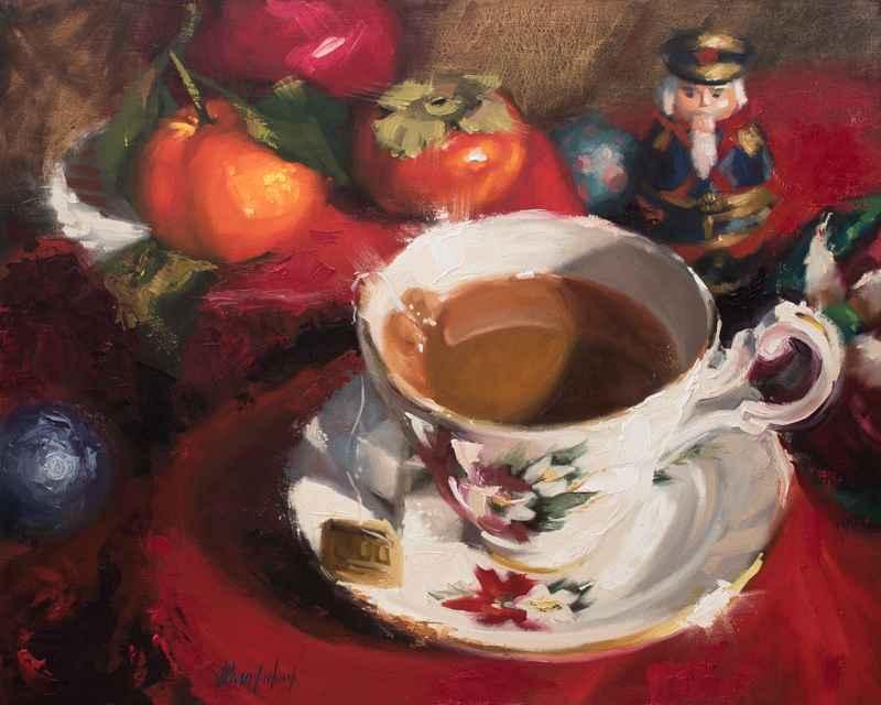 A Holiday Tea by  Angela Bandurka - Masterpiece Online
