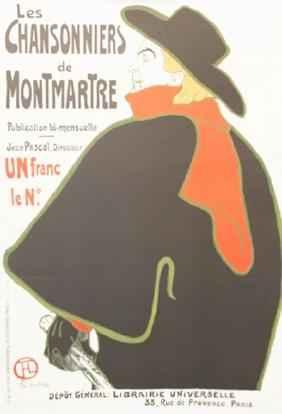 Aristide Bruant -Les ... by  Henri de Toulouse Lautrec - Masterpiece Online