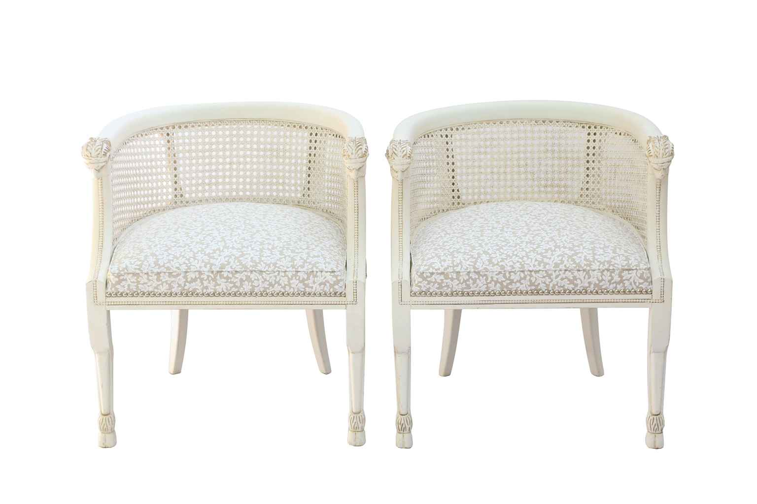 Pair of Painted Barre... by  American  - Masterpiece Online