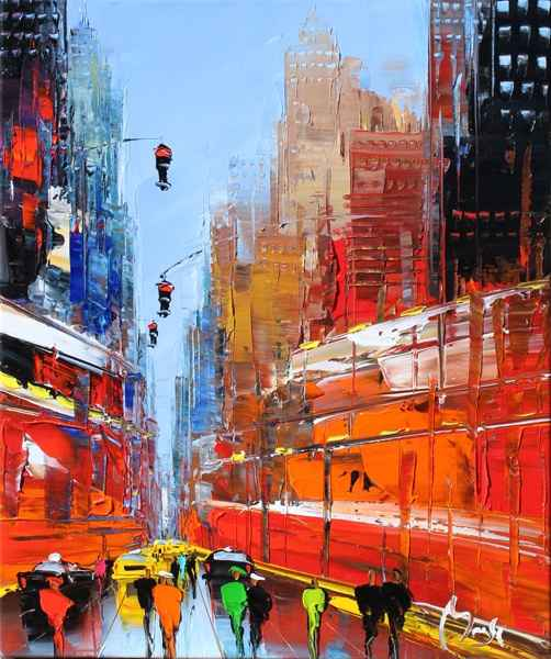 New York Color by  Louis  Magre - Masterpiece Online