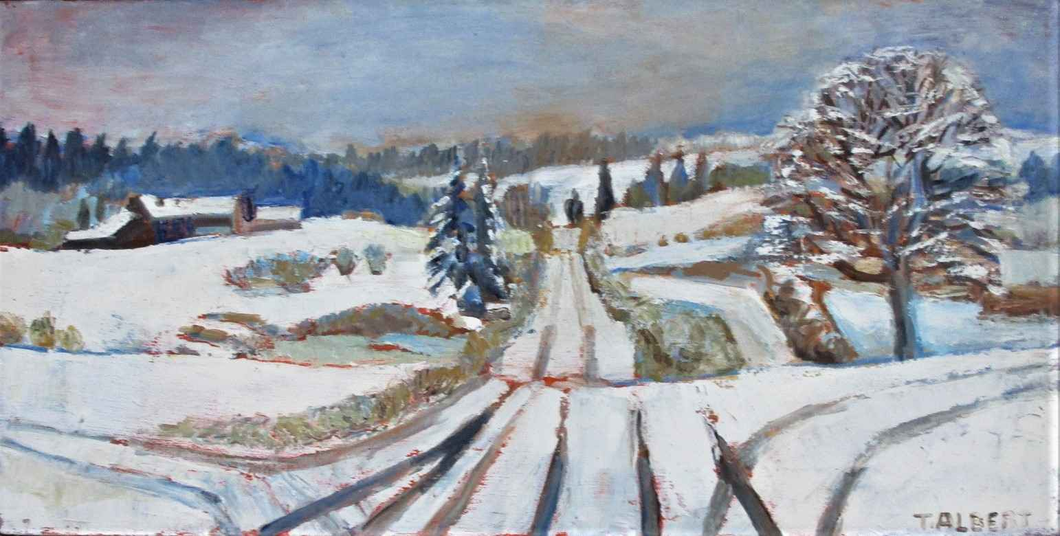Winter on the road by  Therese Albert - Masterpiece Online