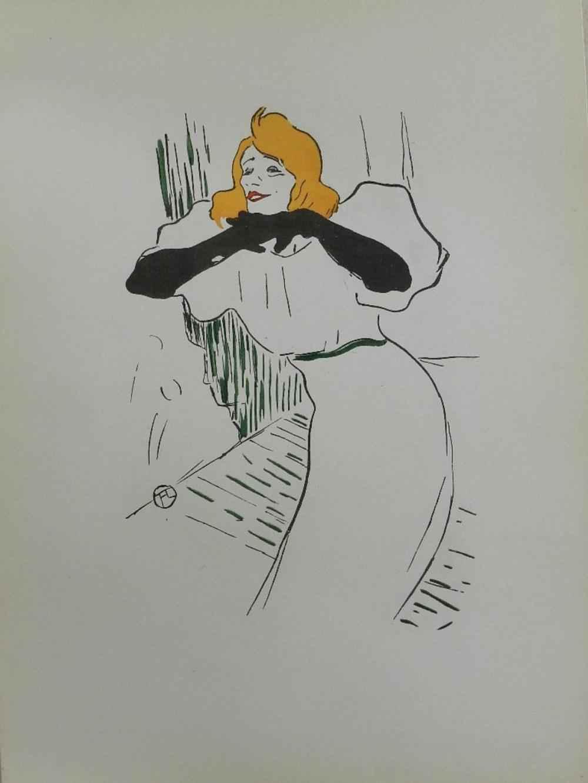 Yvette Guilbert by  Henri de Toulouse Lautrec - Masterpiece Online