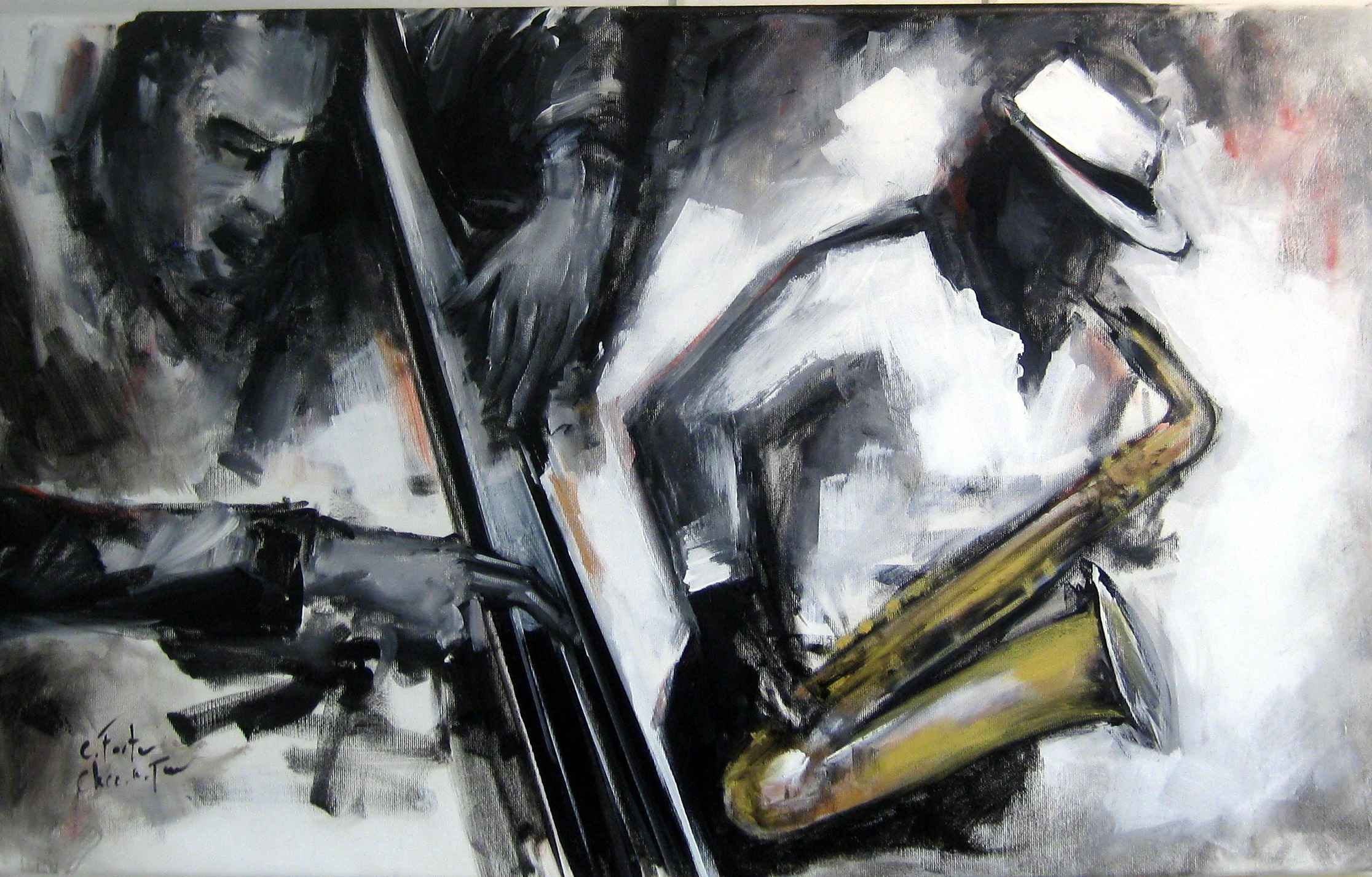 Jazz 3 Contrebasse by Mrs. Catherine Forter-Chee-A-Tow - Masterpiece Online