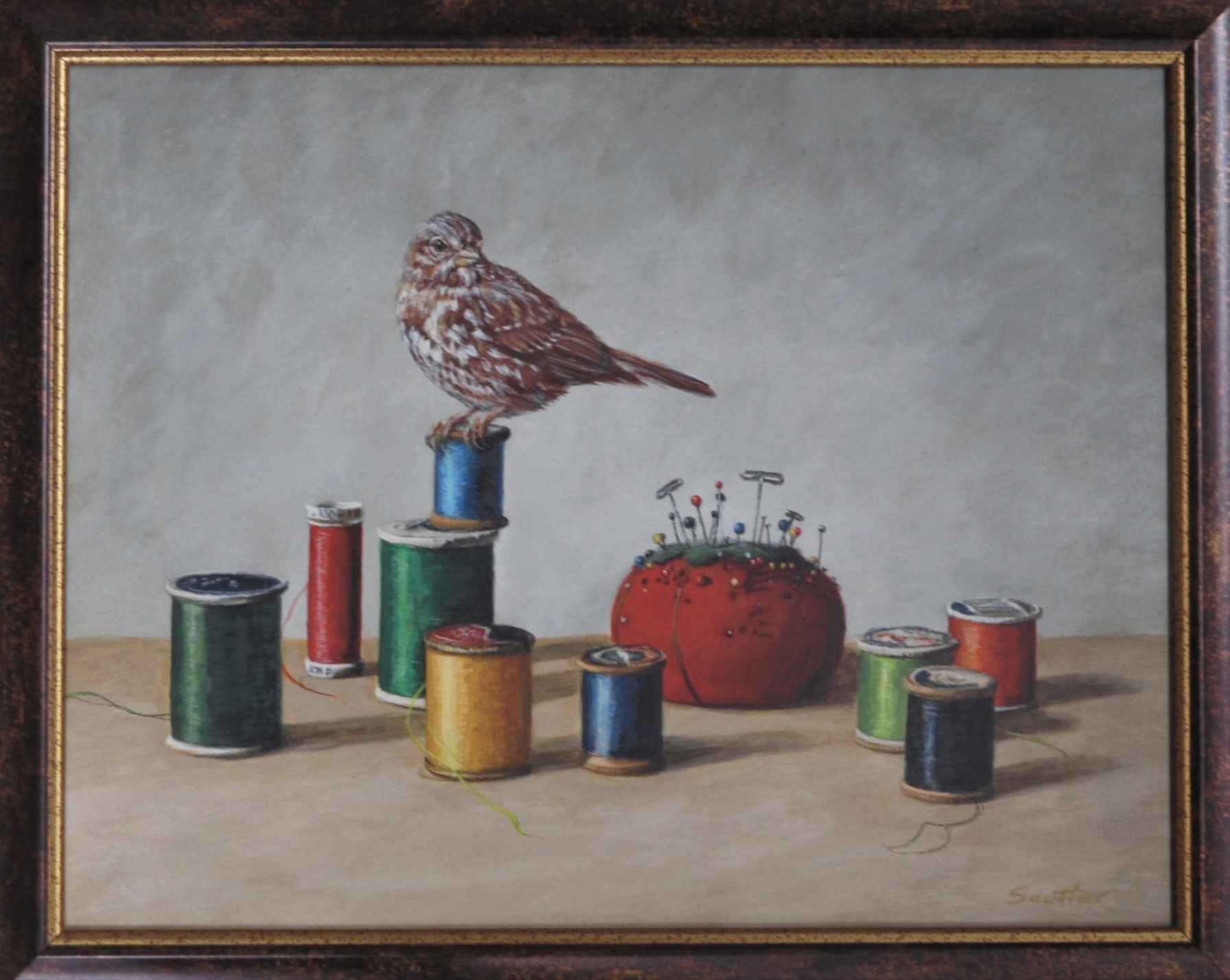 Spools and Sparrow by  Beth Sautter - Masterpiece Online