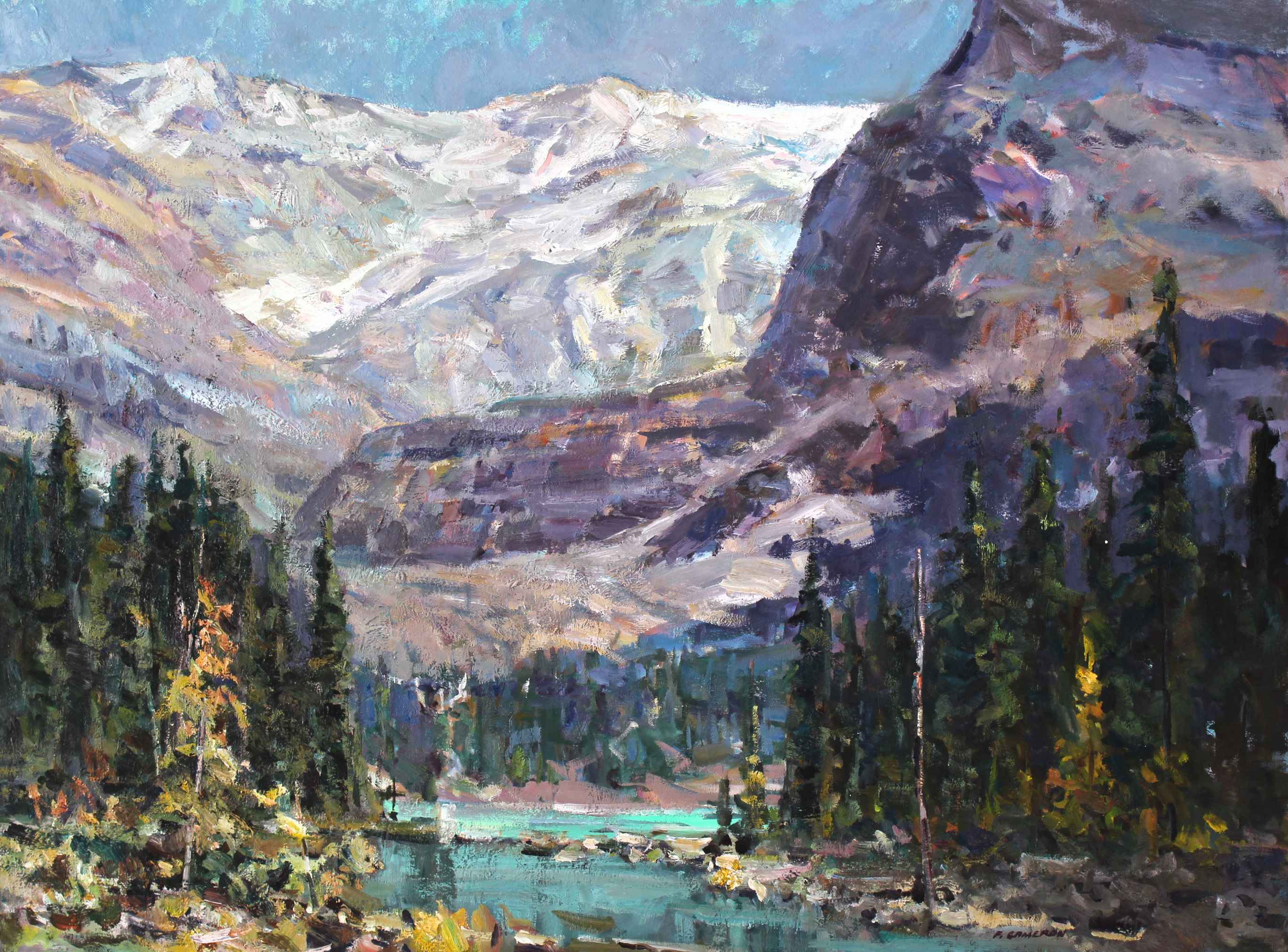 Hiking into Lake O Ha... by Fred Cameron - Masterpiece Online 26d2dd9e86