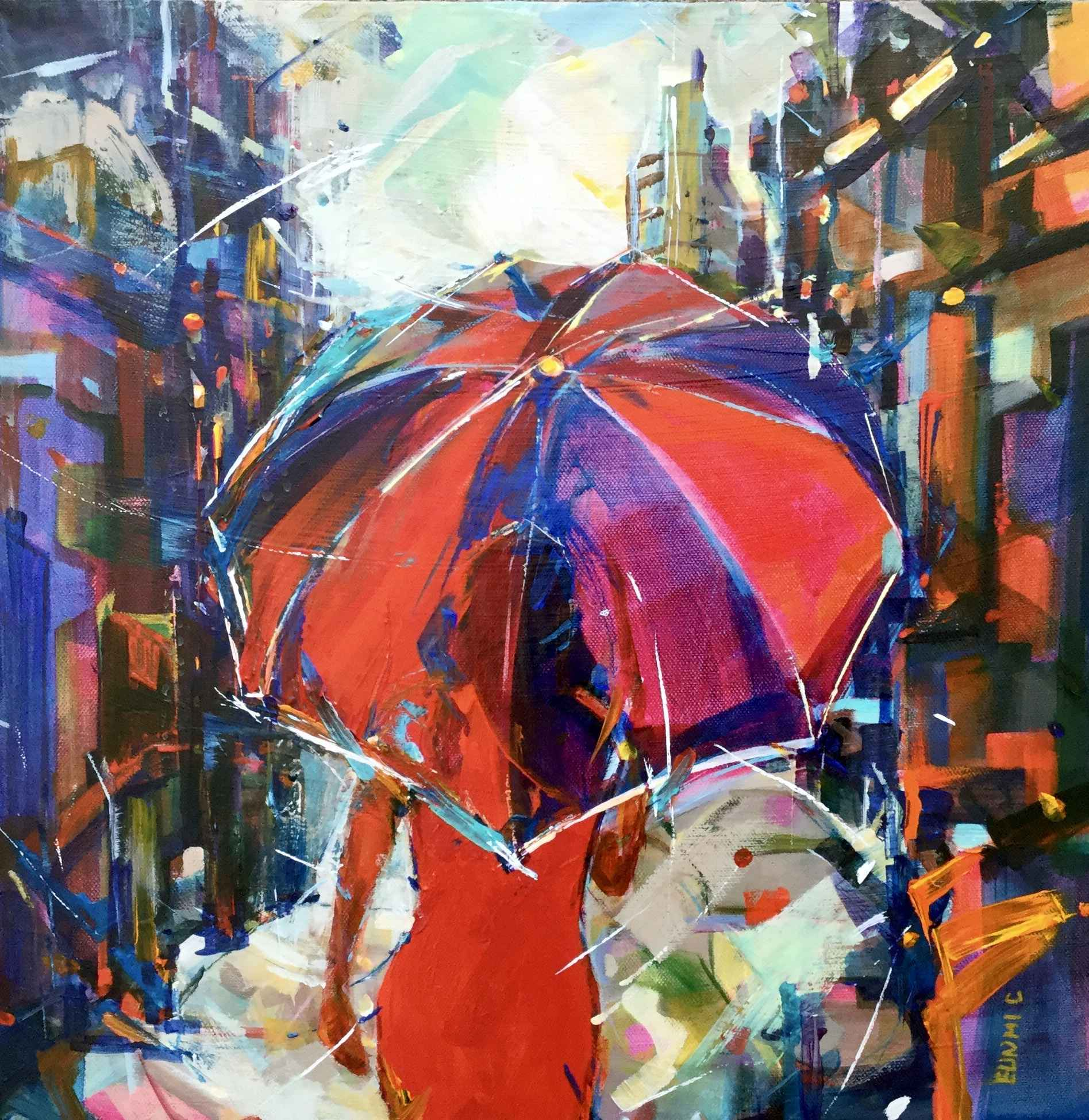 Red Umbrella by  Eunmi Conacher - Masterpiece Online