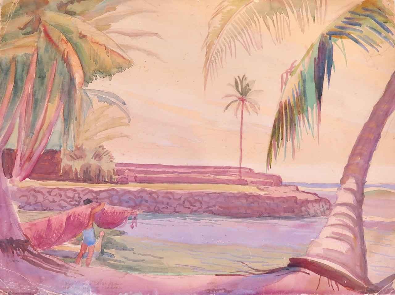 Honaunau, Hawaii by  Robert Lee Eskridge (1891-1975) - Masterpiece Online