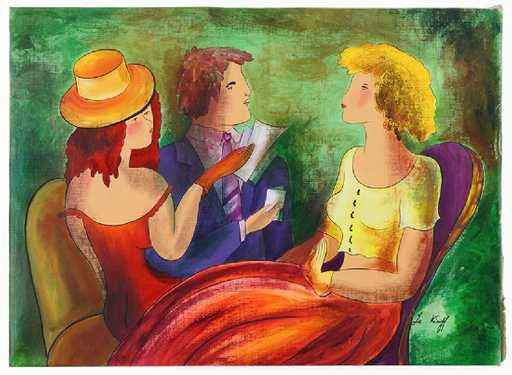 Three Figures by  Linda Le Kinff - Masterpiece Online
