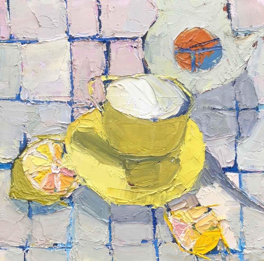 Z Lemon Tea Cup by  Grace Afonso - Masterpiece Online
