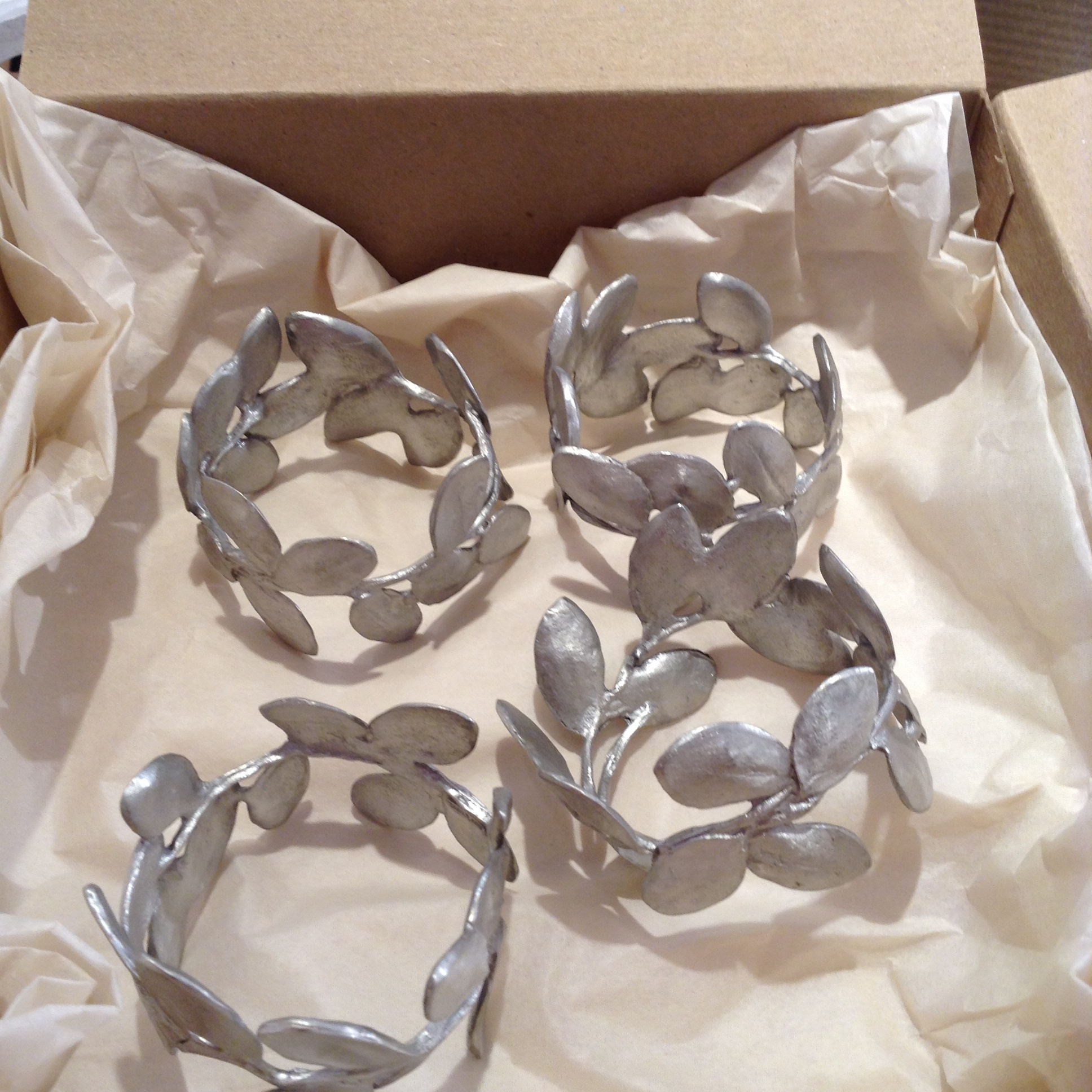 Boxwood Napkin Rings - Silver