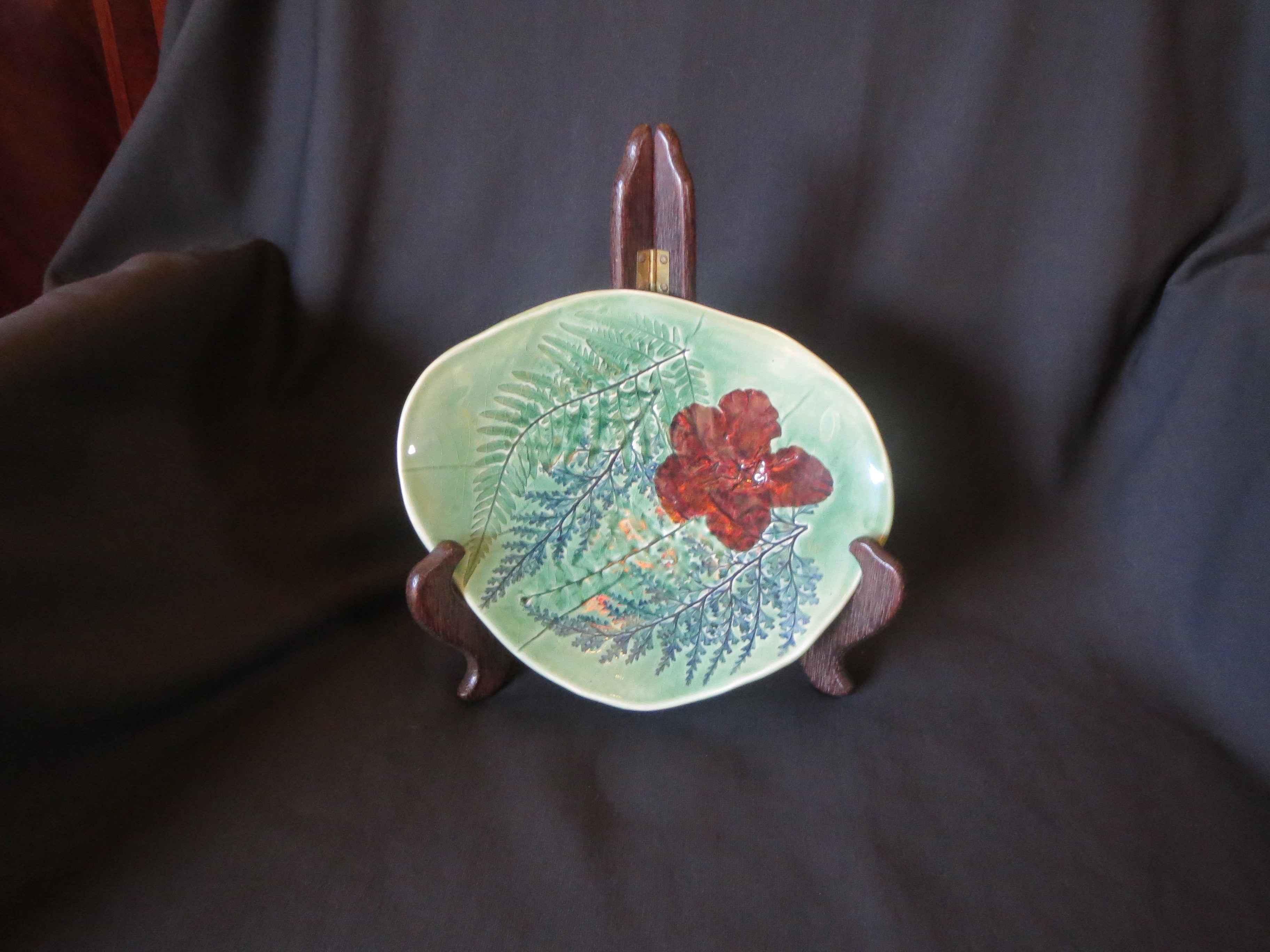 Green Stoneware Plate... by Ms. Birgitta Frazier - Masterpiece Online