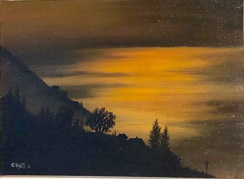 Le Leman au crepuscule by  Xavier L'HOSTE - Masterpiece Online