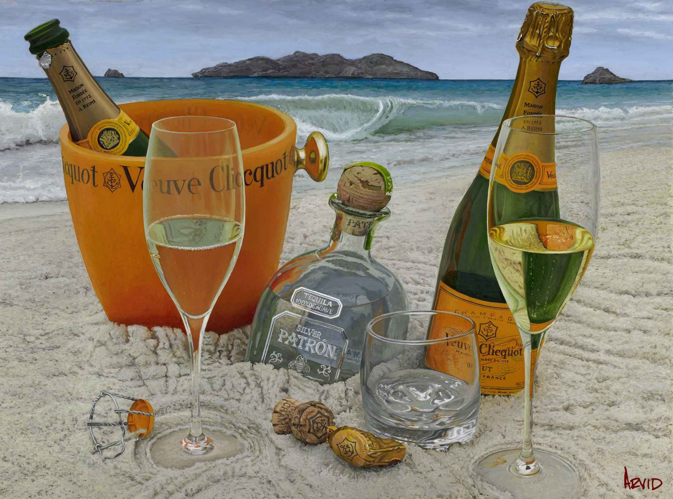 Somewhere on a Beach ... by  Thomas Arvid - Masterpiece Online