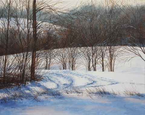 Cowpaths - Snowy Afdt... by  Michael Wheeler - Masterpiece Online