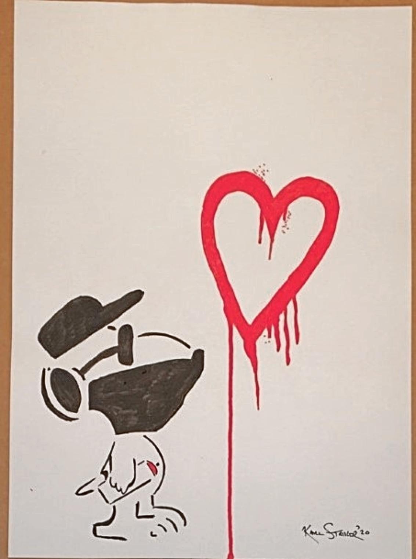 Snoopy Heart by  Karl Striker - Masterpiece Online