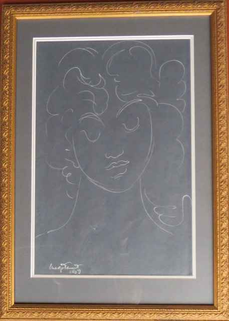 Portrait, Silver ink ... by  Madge Tennent (1889-1972) - Masterpiece Online